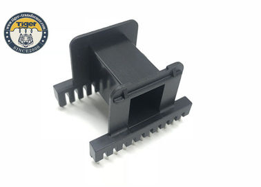 High Frequency Transformer Bobbin Customized Black Plastic Composition With Pins EE55