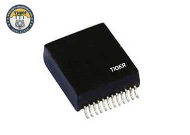 China Professional Lan Transformer Coils Black Color With Router Low Insertion Loss distributor